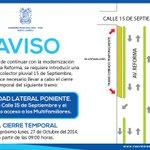 #AVISO Te recordamos que un tramo de la Avenida Reforma permanecerá cerrada temporalmente. #NuevoLaredo #Tamaulipas http://t.co/gFn0TkXclK