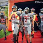 The @UofLFootball team has taken the field in their new #ShowTime uniforms. What do you think #CardNation? #L1C4 http://t.co/Ac4hFyHme1