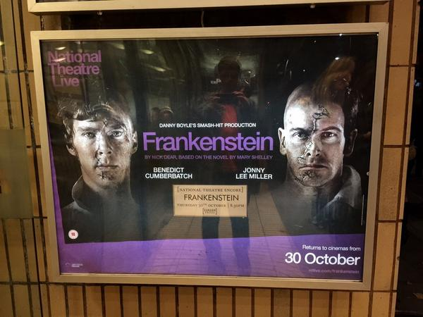 Benedict Cumberbatch's performance in Frankenstein is one of the greatest works of art I've ever seen. http://t.co/1Jq7bsk594