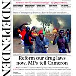 +++ REFORM OUR DRUG LAWS NOW, MPs TELL CAMERON. This mornings @Independent front page: http://t.co/DqDNuscmOM +++