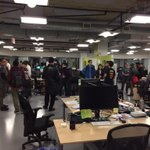 Great turn out at the @nulogy startup open house tonight #soh2014 @suopenhouse http://t.co/zkr9lbBYTk