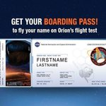 Get your boarding pass! Only one day left to send your name on #Orion's first flight Dec 4: http://t.co/t19It8MTYM
