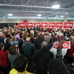 Great crowd out in #whitby #Oshawa to support @VoteCelina and @JustinTrudeau #cdnpoli http://t.co/gANRnEQmdU