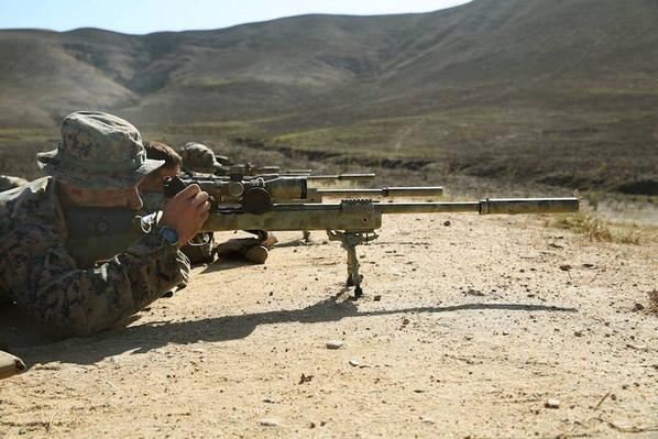 """A reporter asked a Marine sniper what he felt after he took a shot & killed his target """"the recoil sir."""" #SemperFi http://t.co/e9kG83yF9R"""