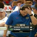 #FloridaHateWeek continues with this amazing picture of depressed Muschamp following a loss to Georgia Southern http://t.co/YNPuS6jyfH