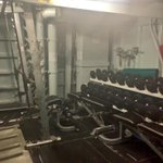 Gotta keep fit onboard, heres the weights room on HMAS Arunta #AnzacAlbany http://t.co/uWY6vFXy3R