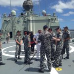 Onboard HMAS Arunta. One of 7 navy ships in Albany. @AnzacAlbany @7NewsPerth #anzacalbany http://t.co/toouMbH6kC