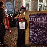 Llora Catrina, Llueve Rabia. #Ayotzinapa 43 #FueElEstado / #Stencil #StreetArt del proyecto #RexisteMX http://t.co/LRs8pl8b9g