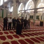 Y/days Fajr prayer at AlAqsa, only Imam and 7 guards in jamat because Zionists closure of mosque. #AlAqsaUnderAttack http://t.co/xMmmJk9DUg