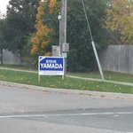 Apparently some newly elected officials are above the law! Signs still up! @SteveYamada2014 #Whitby #whitbypoli http://t.co/BE4uKdN64i