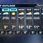 #Torontos 7 Day Outlook. #Citywx #onstorm http://t.co/X66KvAShJj