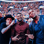 Courtside @justinbieber @michaelstrahan #CavsOpener http://t.co/4jFgZhlc6R http://t.co/2zti17Jfhy