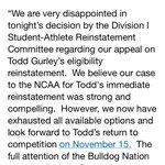 Statement from Georgia regarding Todd Gurley appeal http://t.co/jQJpA9BSGj
