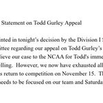 Georgias statement in Todd Gurleys appeal being denied. http://t.co/bHuXL5o5uX