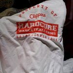 """Clippers fans in attendance will be getting """"hardcore"""" shirts. http://t.co/gd93xvpr8G"""