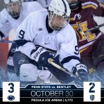 RECAP & STATS: Goodwins goal helps #PennState Beat Bentley, 3-2. http://t.co/rtwG5s2eZB #WeAre #HockeyValley http://t.co/0OU0bnZa1X