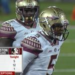 Jameis Winston under pressure tonight: 5 Hits 12 Hurries 1 Sacked 3 INT #FSUvsLOU ESPN http://t.co/D06HWtCIbW