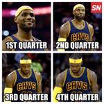 The many faces of LeBrons return to Cleveland... http://t.co/U23GuWeLYO