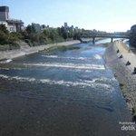 Sungai Kamo adalah sungai yang bersih di Kyoto. Sungai ini patut dicontoh untuk diterapkan di sungai2 di Indonesia :) http://t.co/bCrloJhV27