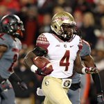 #2 Florida State outscores #25 Louisville 35-10 in the 2nd half to defeat the Cardinals 42-31. #FSUvsLOU http://t.co/aJimwNAXtt