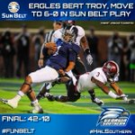 .@GSAthletics_FB Defeats Troy, Moves to 6-0 in @SunBelt Play #FunBelt #HailSouthern #TROYvsGASO http://t.co/HQgmo8whoh