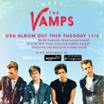 Our debut album is finally out on Tuesday in USA, Canada & Mexico! Very exciting! #MeetTheVamps http://t.co/9C4mZF55mN