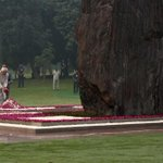 Vice President of India paying homage at Shakti Sthal on 30th Martyrdom Day of Smt. Indira Gandhi #IronLeadersofINC http://t.co/Hkxc2o9ZDO
