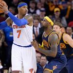Carmelo Anthony hits a dagger to spoil LeBron James homecoming http://t.co/YJcQItk3gG http://t.co/jpW6ouq2bE