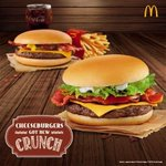 Add some crunch to your favorite McDo meal with the NEW Bacon Cheeseburger and Bacon Cheeseburger Deluxe! http://t.co/VTeE3bZoMM