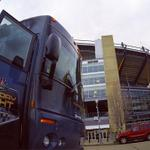 YES! RT @WPXI: The #SNF bus has rolled into Pittsburgh! On Channel 11 Morning News, a LIVE look inside the bus. http://t.co/S4P4I10KXp