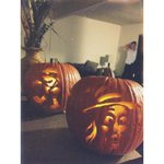 http://t.co/V56oWnkGI9 @joshleyva ???? his first real pumpkin carving experience given by yours truly. http://t.co/ALfuMmVyLs
