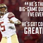 After leading Seminoles back from down 21-0 to stay undefeated, Jameis Winston earned high praise from Jesse Palmer. http://t.co/d2AfKM7rNh