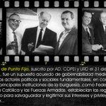 #Efeméride | el 31 de octubre de 1958 AD, Copei y URD firman, en Nueva York, el Pacto de Punto Fijo http://t.co/1jDFvOoRtm