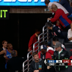 VIDEO: Russell Westbrook exchanged words w/ a fan in the stands as he went to the locker room http://t.co/k23GAEtm42 http://t.co/0GIiB6JJ8C