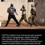 I love the courage with people of Burkina Faso a message to those who think presidency is their birth right http://t.co/TPI53o0KOP