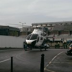 The air ambulance has landed in Commercial Road car park. http://t.co/k2J08XrGv3