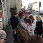Just arrived at @TEDxBrighton - massive queue! http://t.co/4nL3HoaVSC