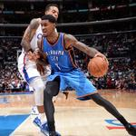 No @KDTrey5 or @russwest44, but @Perry_Jones1 is carrying the load for the @okcthunder with 28 pts http://t.co/VwNyuCLHQu