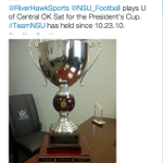 Tweet from NSUs AD. How does that make you feel? Maybe time to find that thing a new home. #UCOFootball #rivalry http://t.co/7ubmDut3Ek