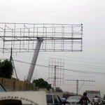 Cyclone #Nilofar: Billboards in #Karachi Ripped Off to Avoid Accidents http://t.co/43CF1n73BK http://t.co/W1NwaZnDXF