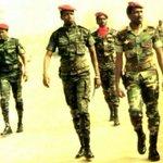 Extreme right: Comrade Thomas Sankara Extreme left: Equally young President Blaise Campaore, early 1987 #BurkinaFaso http://t.co/i4qiDIUCMb