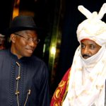 President Jonathan & the Emir of Kano, Muhammad Sanusi II during the latters courtesy visit to the Villa yesterday. http://t.co/Egpapv9HfY