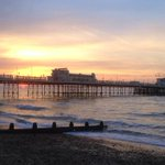 And that she blows #sunrise #pier #worthing http://t.co/DkgWTnPyey