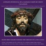 Cartel de los cultos en honor de Nuestro Padre Jesús con la Cruz a cuestas-Foto de Carlos Gónzalez Gago @CarlosGGago http://t.co/N9i8Lb2qHK