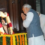 PM paid tributes to Sardar Patel earlier today. http://t.co/DqAynyBaAX