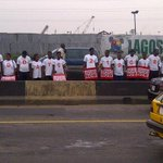Our human signboard this morning in Lagos. #200Days219Girls #BringBackOurgirls #NotWithoutOurDaughters http://t.co/2Mnfzl20t7