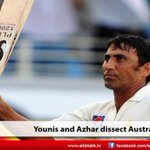 Younis and Azhar dissect Australia http://t.co/C7iYV3Hnkw http://t.co/zFVSr58dSy