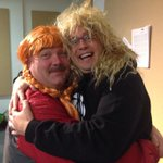 Im trick-or-treating as @nancywalshcbc @cecilhaire is Anne-of-Green-Gates-of-Hell. LIVE from The Goulds 7-9. #cbcnl http://t.co/x52UcOmBUP