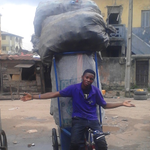 Yesterday Nigerian @realwecyclers won @Sustainia Award for garbage-for-goods cycle project. http://t.co/6qZF8Xjdl2 http://t.co/x3zp3Vwclb