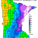 HALLOWEEN BLIZZARD: Heres a look at the snow totals across Minnesota from the 1991 Halloween Blizzard! #Snow #MNwx http://t.co/zCFF5datCC